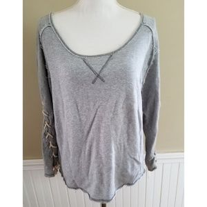 Free People Gray Sweater Size L